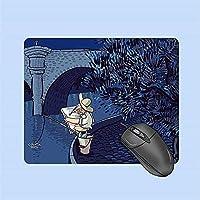 マウスパッド かわいい女の子の創造的なシンプルな小さなマウスパッド、持ち運びが簡単な小さな 滑らかな生地の表面、耐久性のあるステッチエッジ、すべてのラップトップ用のキーボードマウスパッド A4