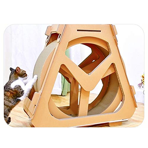 Meubels voor Kittens Cat Klimmen Tree GolfDocument Loopband Reuzenrad Pet Furniture Cat Scratch Board Grab Crawling Shelf Wheel Rotation Kat Speelgoed