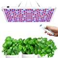 LED Grow Light, Dimmable, Timer, Veg&Bloom Grow Lights with Remote Control, Plant Grow Light Auto ON/Off, Large Panel Light for Indoor Plants, Full Spectrum LED Plant Light for Seed Start, Flowering