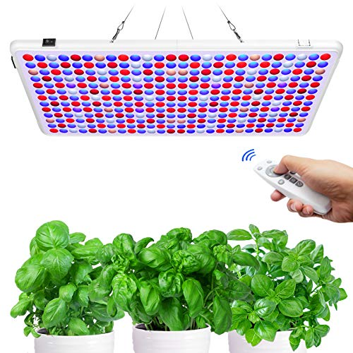 Kolem LED Grow Light, Dimmable, Veg/Bloom Channels, 6/12/18H Timer, Remote Control, Auto ON/Off, Large Coverage Panel Light for Indoor Plants, Full Spectrum LED Plant Light for Seeding, Veg, Bloom