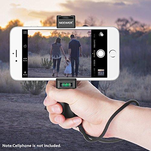 Neewer Smartphone Rig Filmmaker Grip Stativhalterung mit Zubehörschuh-Halterung und weitenverstellbarer Handy-Clip-Halterung
