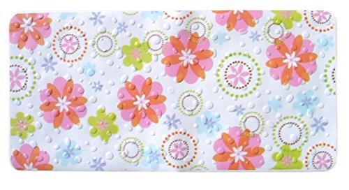 Dintex Nova Blume Teppich Antirutschmatte Badewanne, 72,5x 35cm, mehrfarbig