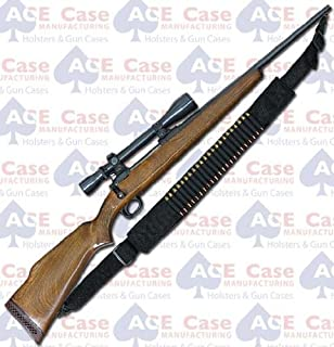 Ace Case Nylon 15 Round Marlin Rifle Sling Bullet Shell Bandolier - Made in U.S.A.