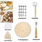 Set de utensilios para hornear Canasta para prueba de pan Cortadora de masa Pan cojo Toos Canasta para prueba de masa fermentada Herramientas de panaderíaAmbos
