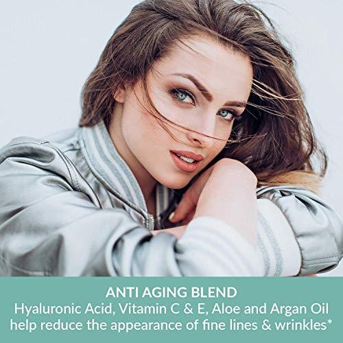 51x8d8ScEwL - Pure Biology Premium Total Eye Cream Serum - Anti Aging Vitamin C, E & Hyaluronic Acid Reduce Dark Circles, Puffiness, Under Eye Bags, Wrinkles & Fine Lines for Men & Women (0.5 oz)