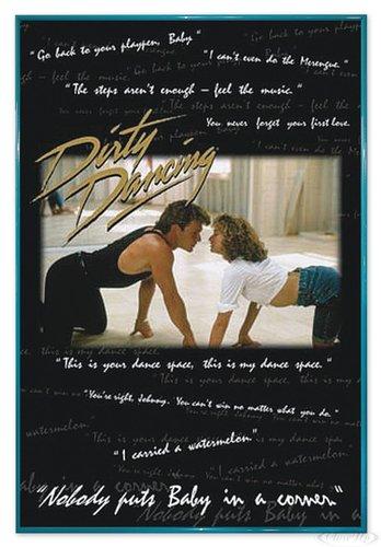 Close Up Dirty Dancing Poster (94x63,5 cm) gerahmt in: Rahmen türkis
