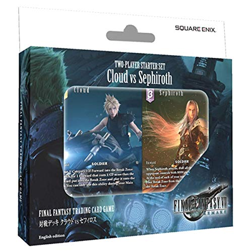 Final Fantasty TCG: Final Fantasy 7 (VII) Remake 2-Player Starter Set Cloud vs Sephiroth