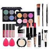 leamalls 20 pezzi trousse di trucchi makeup palette ombretti cosmetics tavolozza trucco set professionale valigia valigetta regalo accessori e strumenti per il trucco