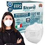Eurocali 50 Mascherine FFP2 Certificate CE Italia Adulti   BFE ≥99%   Mascherina ffp2 SANIFICATA e sigillata singolarmente 100% Made in Italy. Pluricertificata ISO 13485 e ISO 9001