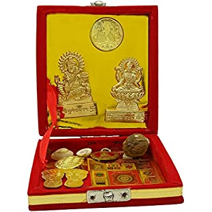 Shri Kuber And Laxmi Varsha Yantra Set Religious Car Dashboard Table Decor