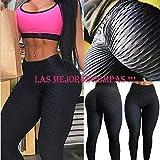 FITTOO Mallas Pantalones Deportivos Leggings Mujer Yoga Alta Cintura Gran Elásticos FitnessNegroM
