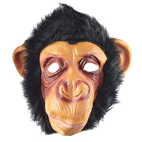 JsJr-K-In Mscara de Halloween para Halloween, mscara de mono de Halloween divertida para fiestas de animales