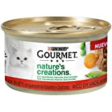 Nestlé Purina Gourmet Nature's Creation Comida húmeda para Gatos Buey 24 x 85 g - Pack de 24