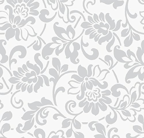Klebefolie Möbelfolie Ornamente Silber Grau 67 cm x 200 cm Dekorfolie Barock