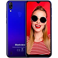 Blackview A60 Pro 4G Móviles 2020, Android 9.0 Smartphone Libres Face ID, (15.7cm) 19.2:9 HD Display, 3GB +16GB, 4080mAh Batería Telefono Dual SIM, Móvil Libre 256GB TF Ampliable (EU Versión)