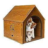 Niche extérieure en bois pour chien | Cabane en rondins en bois résistant aux intempéries, pour chiens de toutes tailles, meubles pour animaux domestiques pour petits animaux de taille moyenne