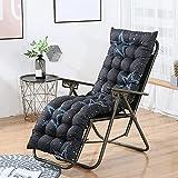 XCTLZG Cómodas almohadillas para tumbonas, mullidas y suaves para sillas reclinables para interiores y exteriores, jardín, cojín antideslizante para silla con lazo de fijación