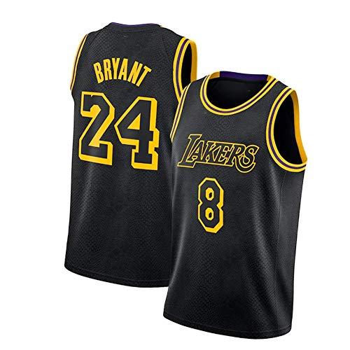Bryant #24# 8 Los Angeles Basketball Jersey Men's Black Mamba Jersey Sports Jersey Shirts for Men, Basketball Player Number Jersey Comfortable Sweatshirt