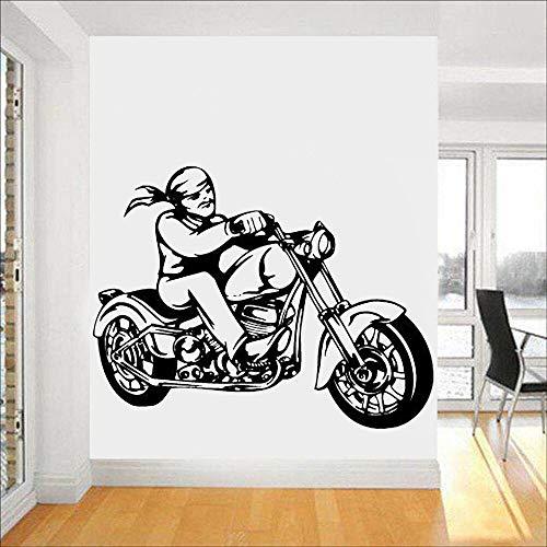 Crjzty Chopper Retro Bicicleta Driver Speed Cool Vinilo Infantil Pared Vinilos Decorativos Personalizados Salón Dormitorio Decoración del Hogar Adhesivo De Pared 73x57cm