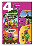 Barney: A-Counting Will Go + Fun on the Farm + Halloween Party + Happy Mad Silly Sad (4-Disc Box...