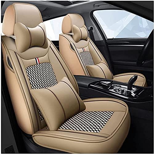 Fundas De Asiento para Coche Universales para Mercedes Benz W205 W212 W124 W140 W163 W164 W166 W201 W202 W203 W204 W210 W211 W221 W245 Ml300 T202 T203 T210 Accesorios Coche-Beige