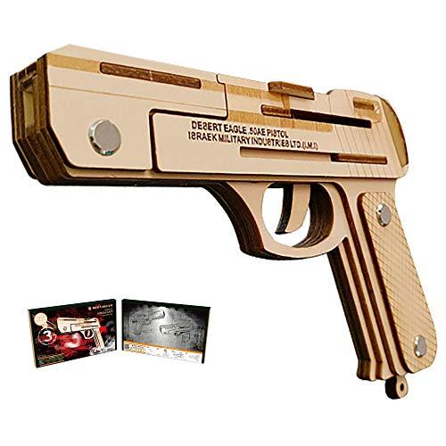 HFXZ2018 DIY Holz-Gewehr mit Gummibänder, Gun Modellbau Kits, Holz BAU 3D-Puzzlespiel-Spielzeug geeignet für Kinder und Erwachsene