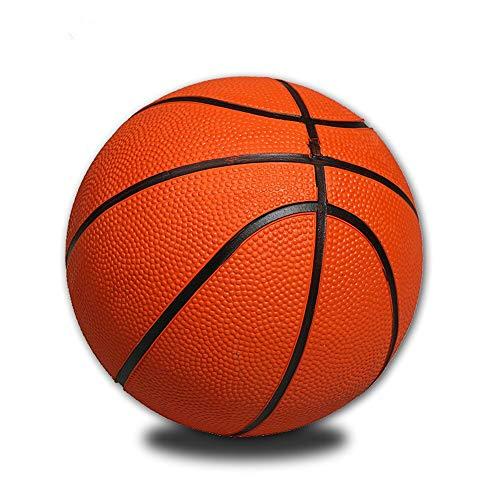 Pelota de Baloncesto Portátil Divertido Baloncesto Mini Baloncesto Amarillo Entrenamiento De Goma Tamaño Pequeño para Interior Mini Pelota De Baloncesto Juego De Deportes