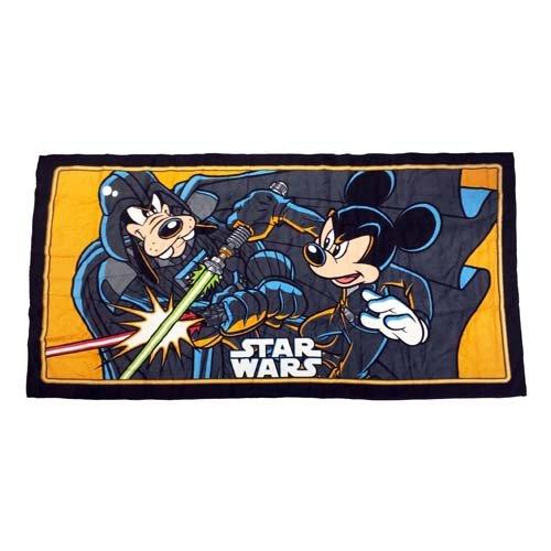 Star Wars Jedi Darth Mickey Mouse Pluto toalla de playa (1pieza)