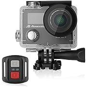 Powerextra Caméscope Sport Camera de Sport Caméra d'Action Appareil Photo Ultra HD 1080p Casque Imperméable /2 Inch Ecran LCD /Grand Angle 170°/12MP & WIFI /Étanche 30M /2.4G Télécommande/19 KITS Accessories