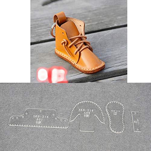 JIACUO Kleine Schuhe Mold Acryl Keychain Stencil Set Stiefel Anhänger Acryl Vorlage