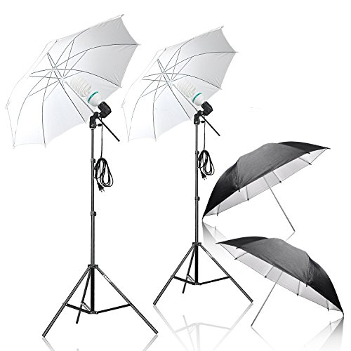 Emart Umbrella Lighting Kit for Photography, 1000w, 5500k Daylight Umbrella Continuous Lighting, Professional Lighting for Video