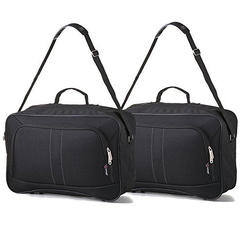 2 PCS 16-inch Carry On Hand Luggage Flight Duffle Personal or Underseat Bag 19L