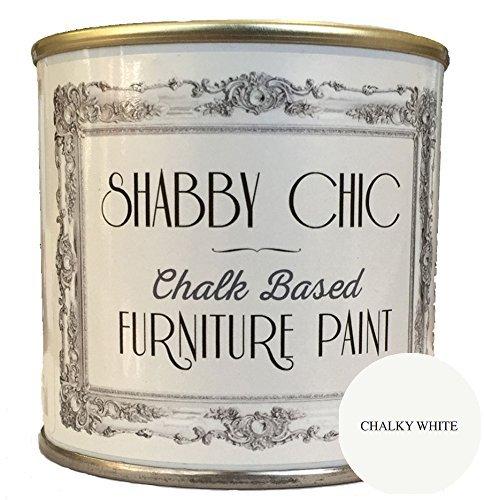 Shabby Chic Chalk Paint Pintura para muebles con acabado mate, color blanco tiza (Chalky White) 250ml.
