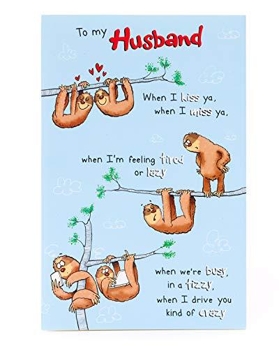 Geburtstagskarte für Ehemann, lustiges Faultier-Design