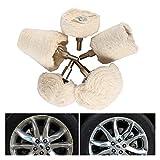NERR YULUBAIHUO 5pcs Disco de Pulido para pulidor y Destornillador eléctrico Ajuste para Pulido de Rueda Pulidor de automóviles de automóvil (Material : A)
