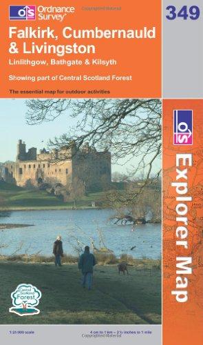 OS Explorer map 349 : Falkirk, Cumbernauld & Livingston