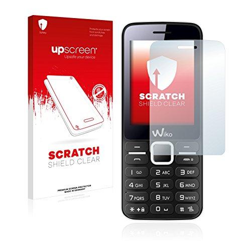 upscreen Schutzfolie kompatibel mit Wiko Riff – Kristallklar, Kratzschutz, Anti-Fingerprint