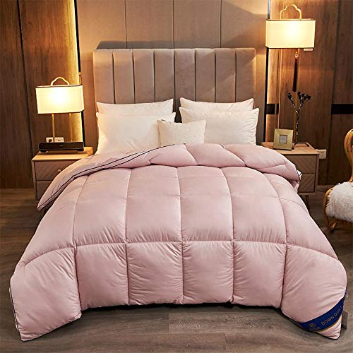 Miwaimao 95 White Goose Down Duvet Spring And Autumn And Winter Cotton Quilt Hotels Are Gifts To Be,Pink,150 * 200cm