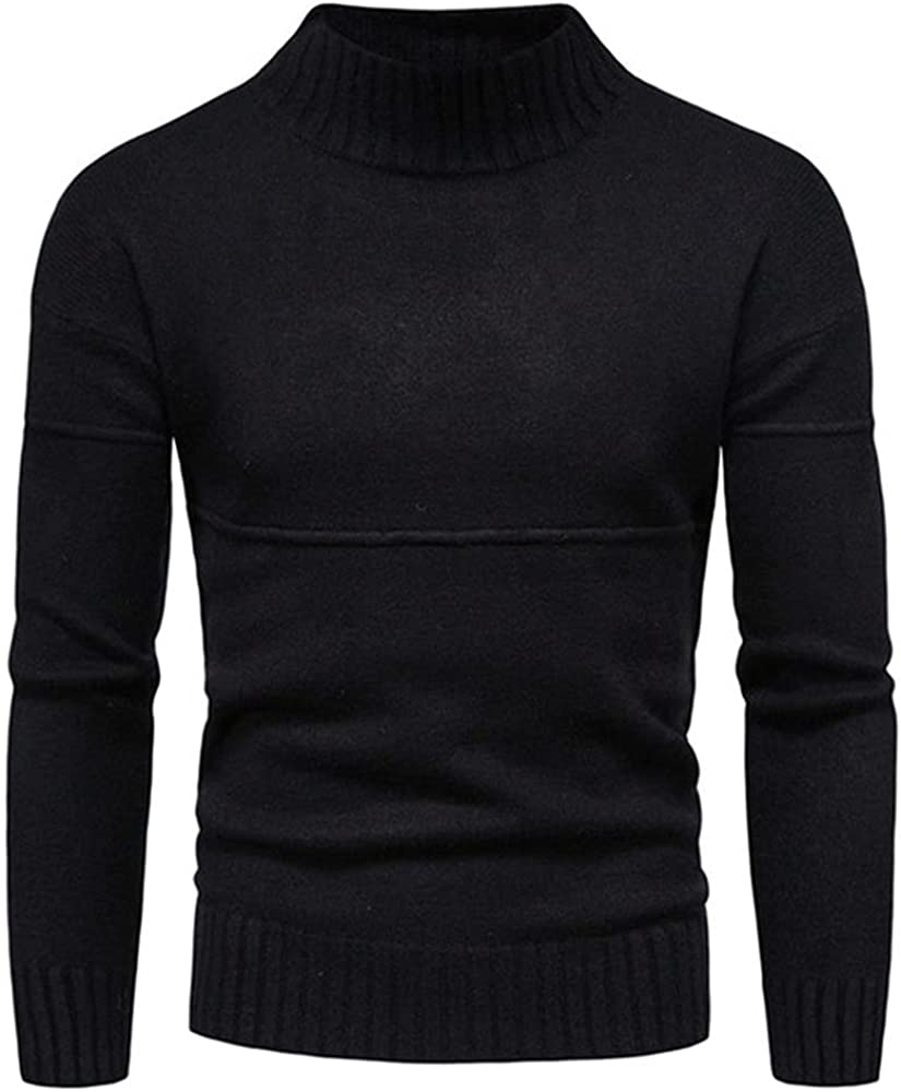 NP Mens Warm Knitted Pullover Sweaters Male Solid