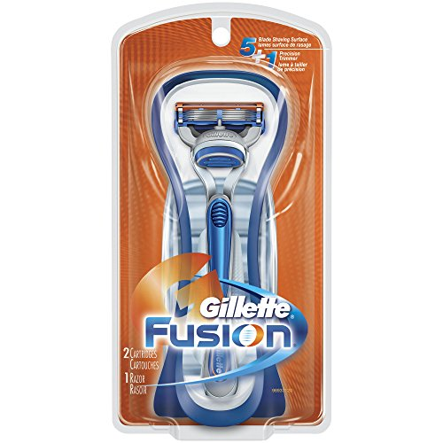 Gillette Fusion Men's Razor with 2 Razor Blade Refill, Mens Razors / Blades