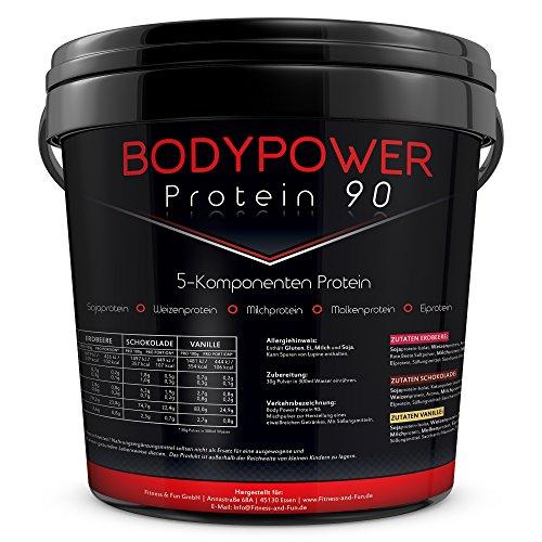 Body Power Protein 90 5kg Eimer 5K Mehrkomponenten Eiweiß 5000g (Schoko)