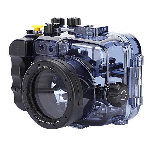 Topiky Estuche Impermeable para Cámaras, Cubierta de la Carcasa de Buceo Submarino de 60 m / 195 Pies con Corte Exacto de Cada Botón para Sony A6000 / A6300 / A6500