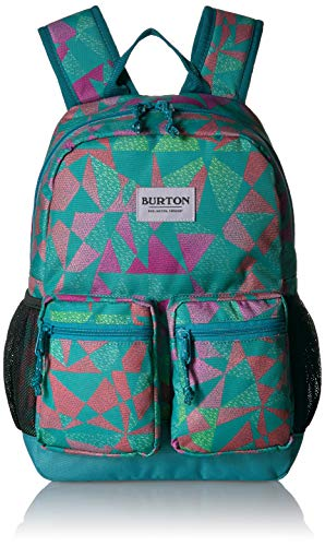 Burton Kids Gromlet Backpack, Green-Blue Slate Morse Geo Print, One Size