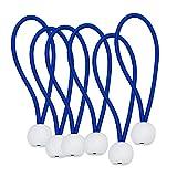 6 Set Professionelle Bungee Cord Ball, Binden Schleife Fix Seil Für Camping Zelte Plane, Banner, Planen, Pavillons Wählen Sie Farbe Und Größe - Blau 4 Zoll
