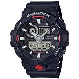 Casio G Shock Quartz Watch with Resin Strap, Black, 25.8 (Model: GA700-1ACR)