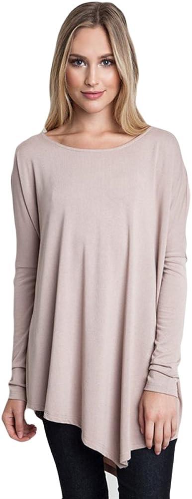 Umgee Tulsa Mall USA Women's Asymmetrical Sleeve Tunic Long Hem Year-end gift