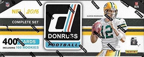 2016 Donruss NFL Football MASSIVE 400 Card Factory Set Loaded with SUPERSTARS & 100 ROOKIES Including Carson Wentz, Dak Prescott, Ezekiel Elliott & More!