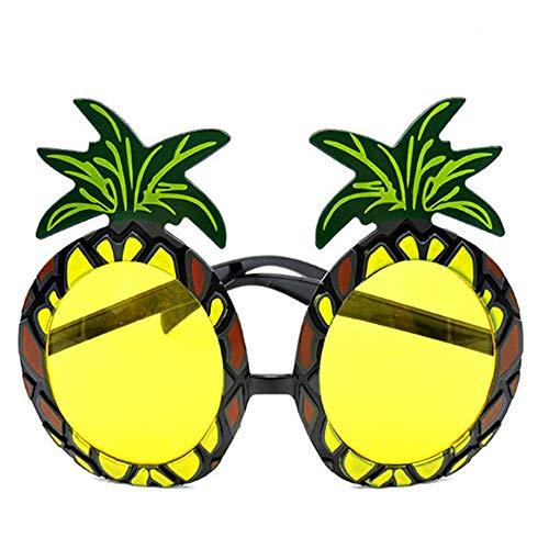 XC Gafas de Sol con Forma de piña, Gafas de Sol Hawaianas, con Forma de piña, novedosas Gafas de Sol para Accesorio de Fiesta de Playa Hawaiana