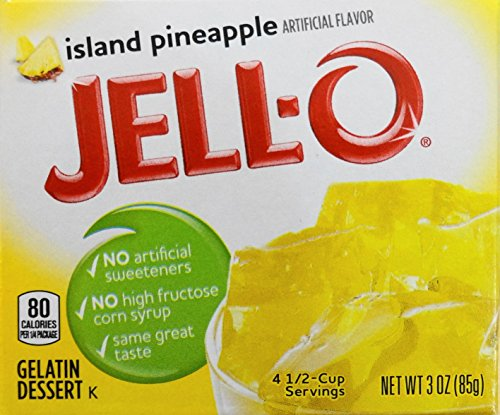 Jell-O Gelatin Dessert, Island Pineapple, 3-Ounce Box (Pack of 3)