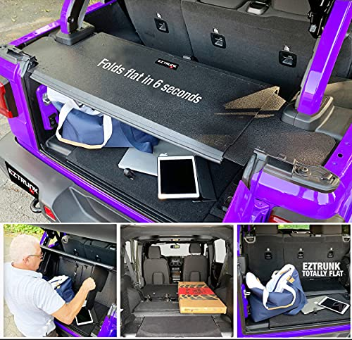 Flat Folding Metal Security Trunk, Wrangler Accessories, Fits Jeep Wrangler JKU 2011 - 2018, 4D All...